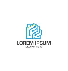 tech home logo template vector image