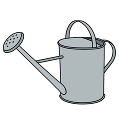 Tin watering can vector
