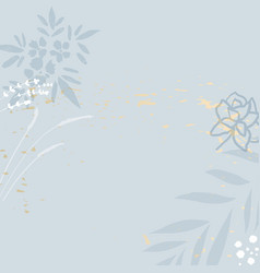 trendy hand drawn background textures and floral vector image