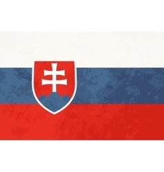 True proportions Slovakia flag with texture vector