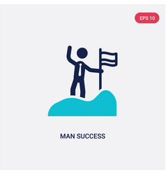 two color man success icon from business concept vector image