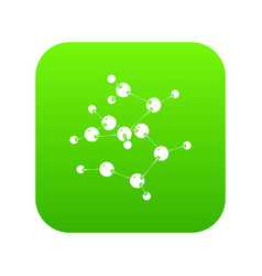 valine icon green vector image