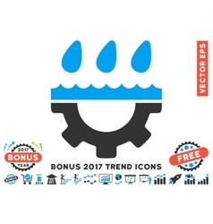 Water Gear Drops Flat Icon With 2017 Bonus Trend vector