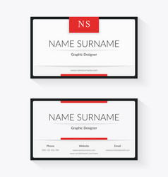 white business card template vector image