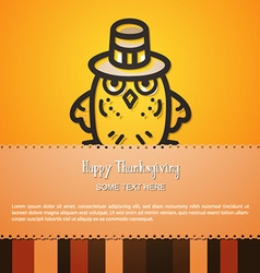 With thanksgiving and bird vector