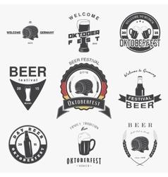 Beer pub set Beer festival Oktoberfest Brewing vector image