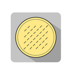 cotton pad flat icon of hygiene products object vector image