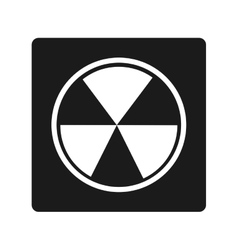 nuclear energy isolated icon vector image vector image