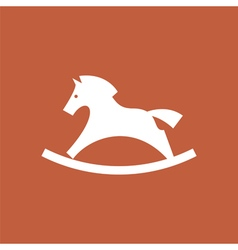 rocking horse icon vector image