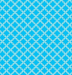 blue background fabric with white cross circles vector image