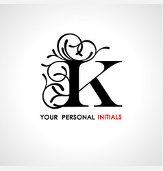 capital letter k decorated with vegetable vector image