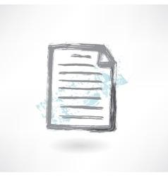 Document grunge icon vector image