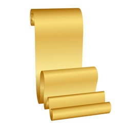 gold scroll vector image