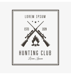 Hunting club vector image vector image