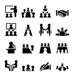 Meeting conference icon vector