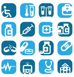 color medical icons vector image vector image