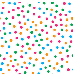 colorful circle seamless pattern on white vector image vector image