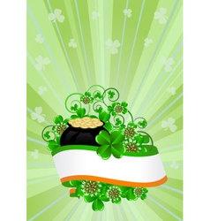 Greeting Card St Patricks Day vector image