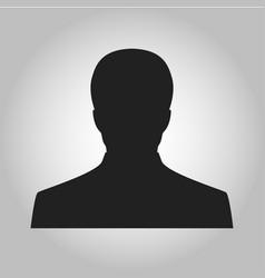 icon man silhouette vector image vector image
