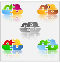 Puzzle Cloud vector image vector image