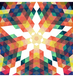 Retro star backdrop Mosaic hipster background made vector image vector image