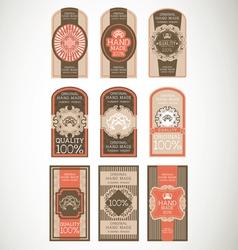 Vintage label Style with nine Design Element vector image vector image