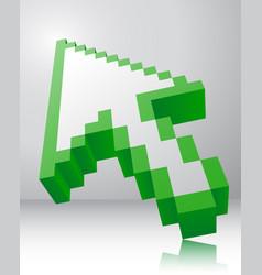 Arrow icon 3d vector