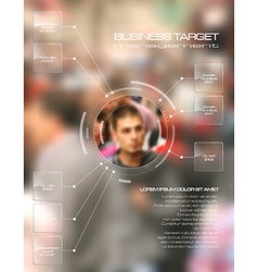 Business target infographic concept vector image