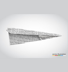 paper airplane isolated on white backgroun vector image vector image