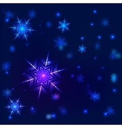 Shiny snowflake background vector image