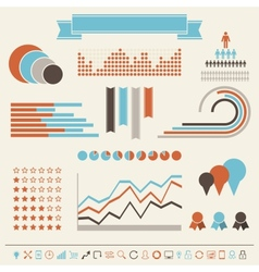 Vintage styled infographics elements vector image vector image