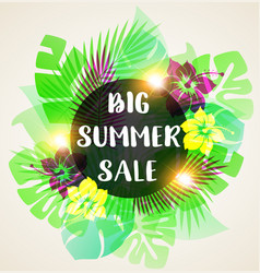 abstract banner for seasonal summer sale vector image