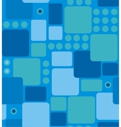 abstract geometry from rounded rectangles vector image