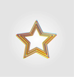 Abstract Star design vector image