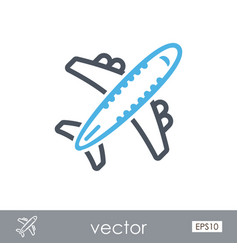 Aircraft outline icon travel summer vacation vector