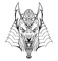 Ancient egyptian god anubis head vector