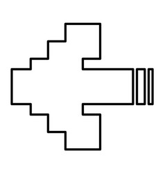 arrows pixel vector image