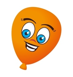 balloons air character icon vector image