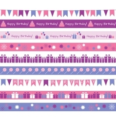 Birthday borders vector