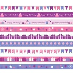 Birthday borders vector image