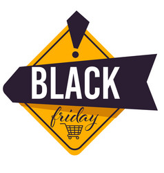 black friday sale discounts and advertisement on vector image