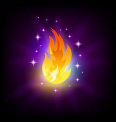 Bright fire flames icon for slot machine vector