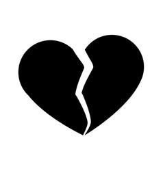 broken heart symbol vector image