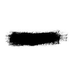 Brush stroke isolated on white background black vector