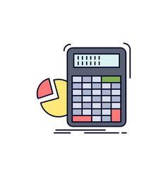 Calculator calculation math progress graph flat vector