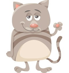 cat character cartoon vector image