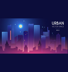 city light background urban vector image