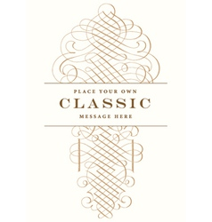 Classic Victorian fancy elements vector