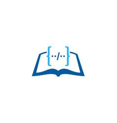 Code book logo icon design vector