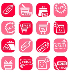 color online shopping icons vector image